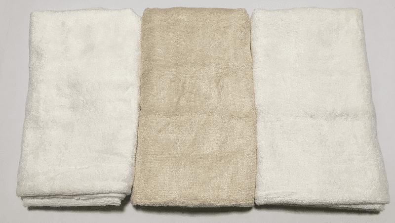 臭いタオルで機嫌を損ねるくらいなら臭くないタオルを使う